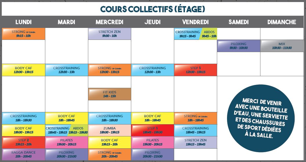Planning cours 2019